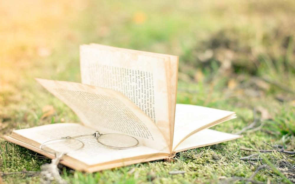 Glasses, book, blur, pages