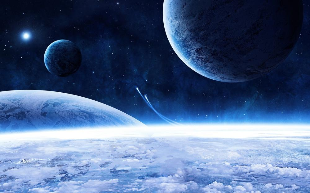 Space, flight, planets
