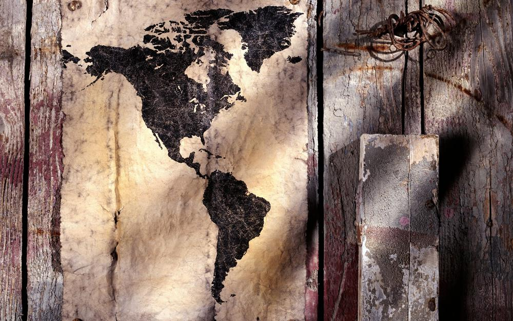 America, sweated, continent map, map, part of the world, ancient
