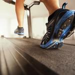 Shoes, running on treadmill, gym