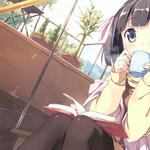 Girl drinks tea in anime one by god the slave world