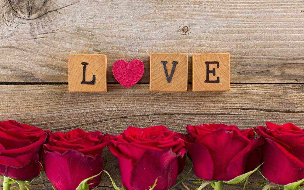 Flowers, heart, valentines day, red, love, roses