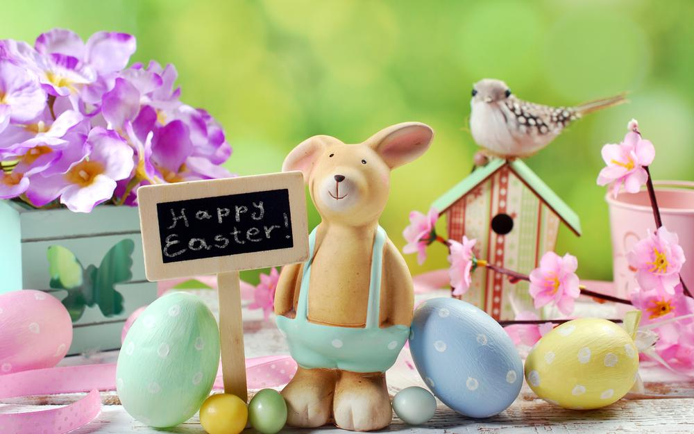 Flowers, easter, eggs, eggs, spring, decoration, happy, spring
