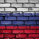 Russia, wall, flag, paint