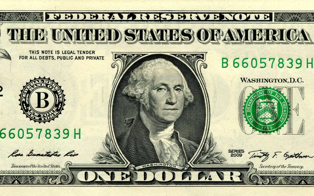 Washington, dollar, 1, covers, federal reserve note, money