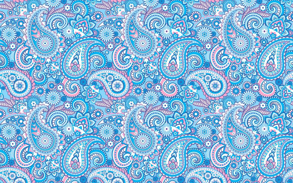 Blue, pattern, indian cucumbers, paisley