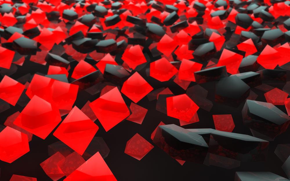 Red-black particles