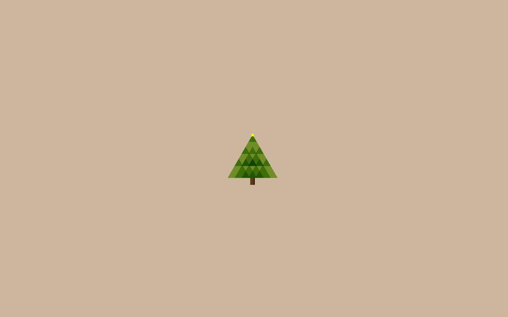 Center, christmas, tree, geometry, triangles, holiday, new year