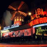 Moulin rouge, signs, night