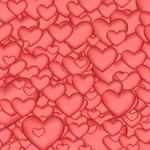 Abstraction, hearts, pink background