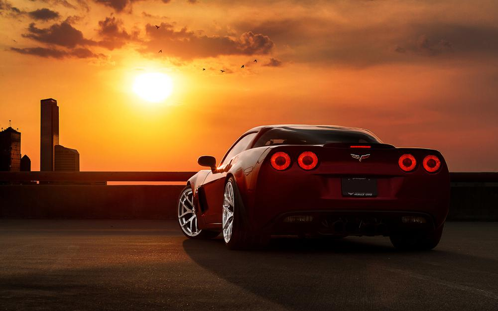 Tuning, auto, sky, machines, clouds, chevrolet, sunset