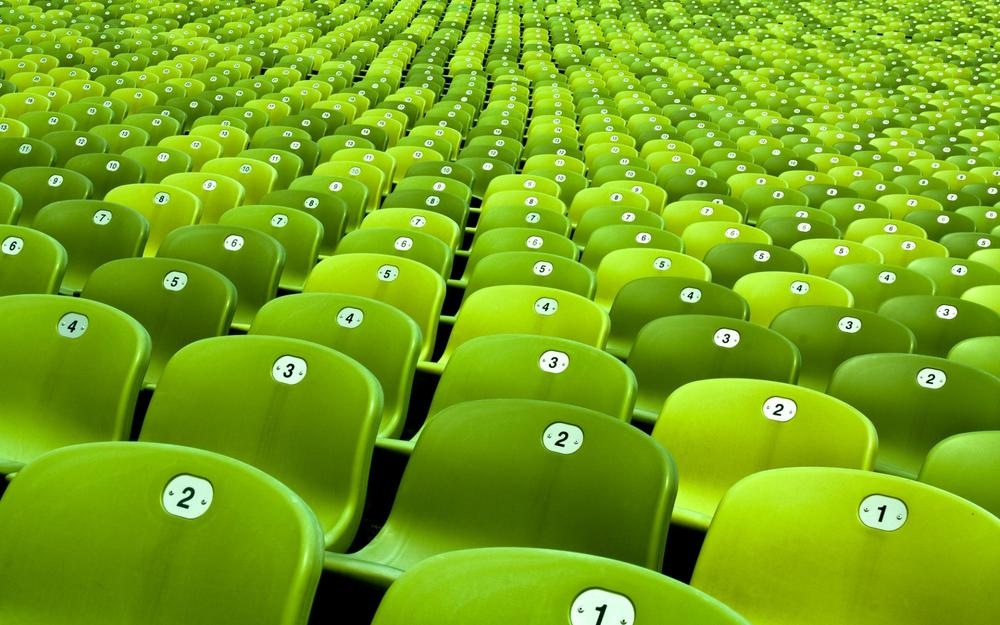 Numbering, walls, rows, photo, stadium, miscellaneous, color
