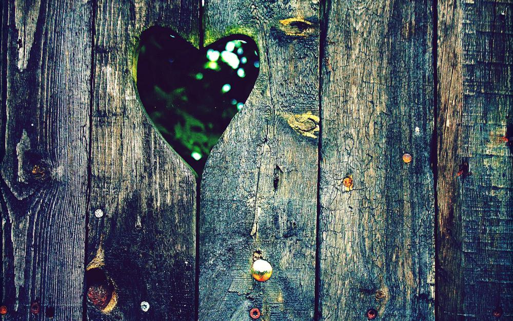 Photo, colors, fence, boards, miscellaneous, wallpaper, heart