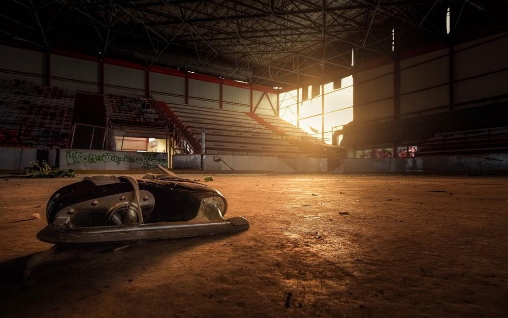 Sports, arena, abandoned places