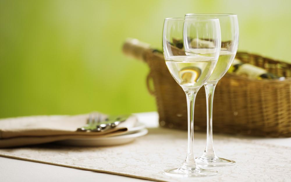Two glasses of us table