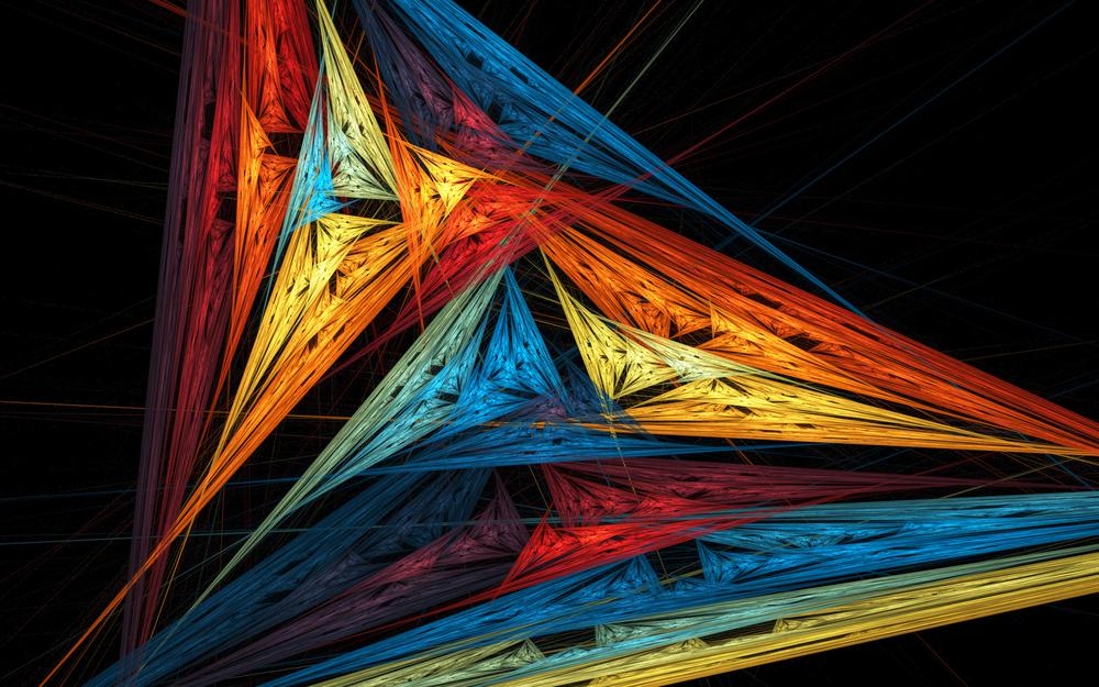 Pattern, light, rays, shadow, color, sail, triangle